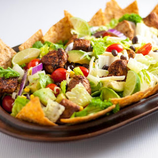 Skinny Chopped Chicken Taco Salad