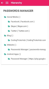 Passwords Manager : Store & Manage Passwords. Screenshot