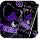 Violet Crystal Heart Love Valentine Theme APK