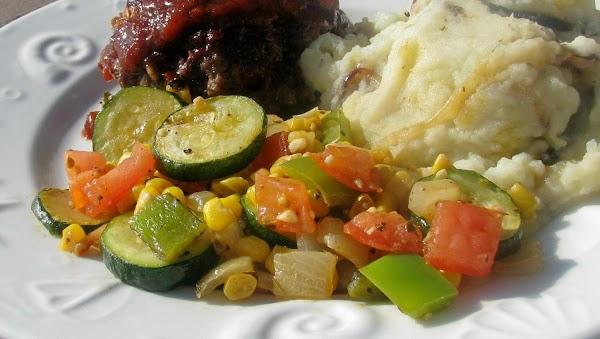 Spanish Corn-zucchini Recipe