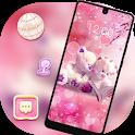 Cute theme Pink couple bear icon