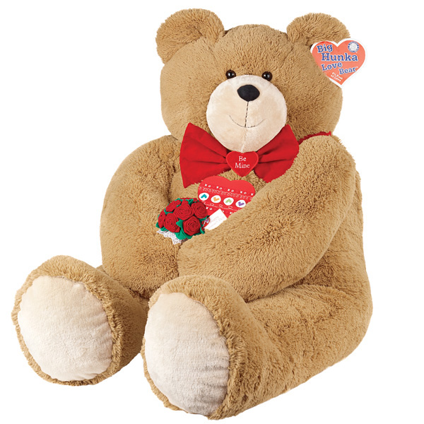 Photo: Big Hunka Love Bear with Red Roses & Small Heart Box of Chocolates