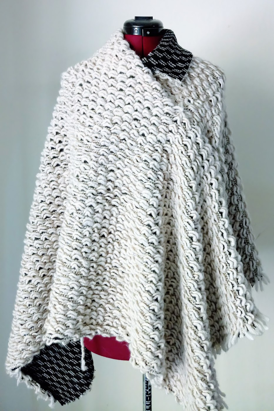 In-Progress: Asymmetrical Knit Cape - DIY Fashion project | fafafoom.com