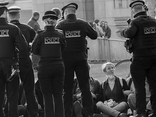 London, anti pollution protest. di gterzolo