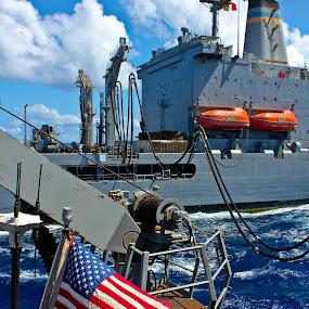 'Murica by Jake Barrows - Transportation Boats ( flag, ship, underway, sea, navy )