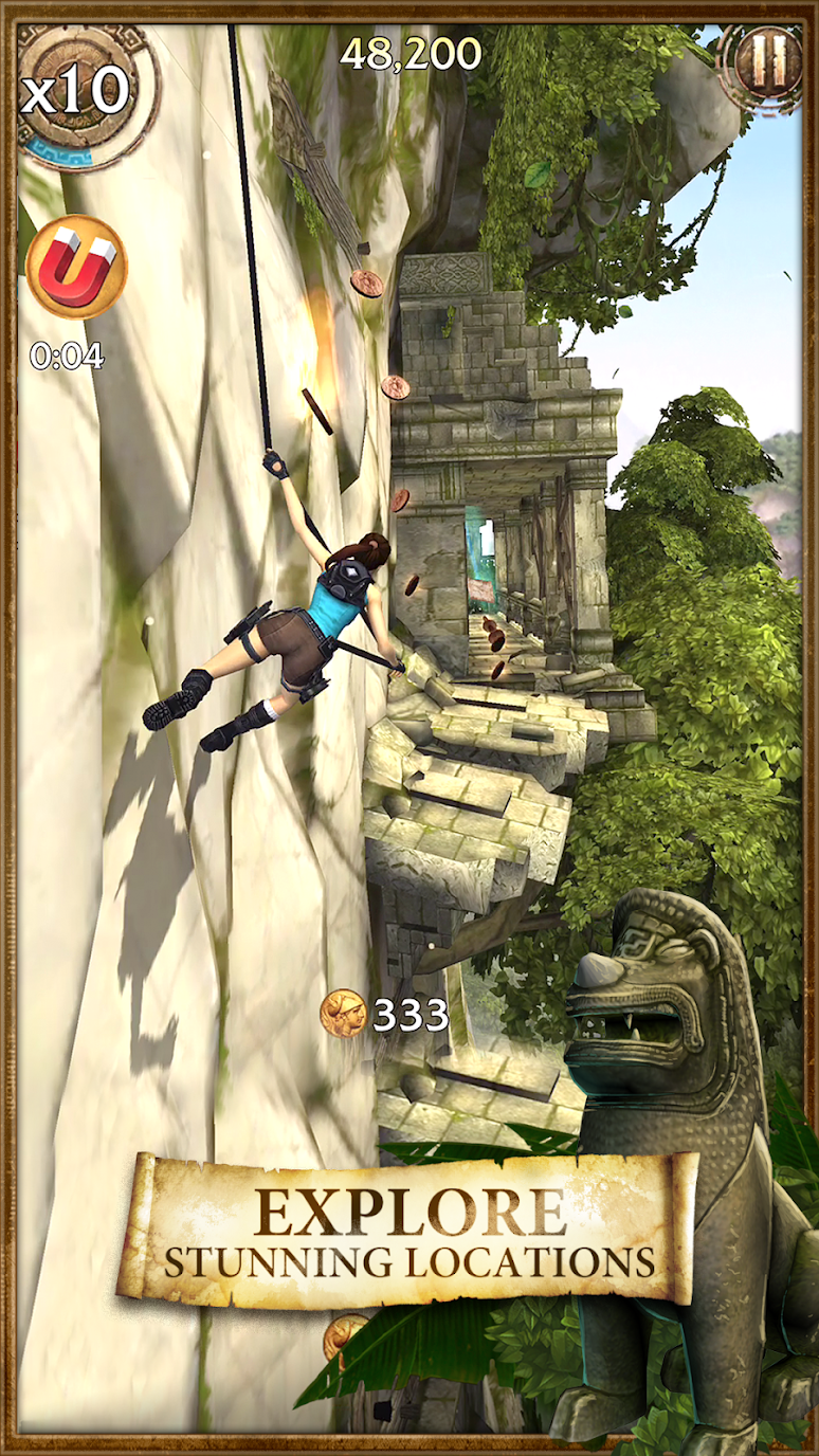 Lara Croft: Relic Run (MOD, coins/gold) free on android 2
