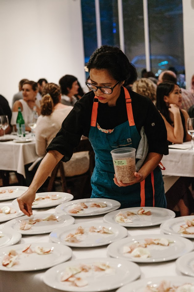 Isa Fabro of Unit 120 at the Feast PDX Twisted Filipino Dinner, photo credits Kimberley Hasselbrink