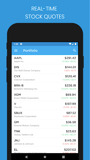 Stock Market Tracker screenshot for Android