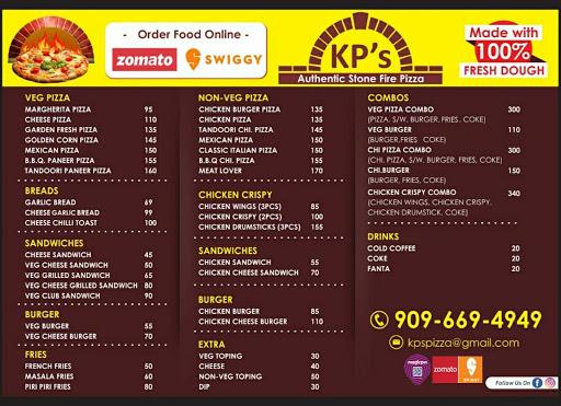 Kp's Pizza menu 4