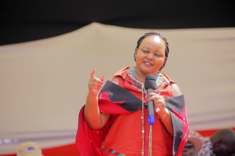 Kirinyaga Governor Anne Waiguru during a past BBI rally in Narok.