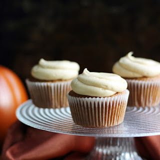 Pumpkin Cupcakes with Caramelized White Chocolate Buttercream.