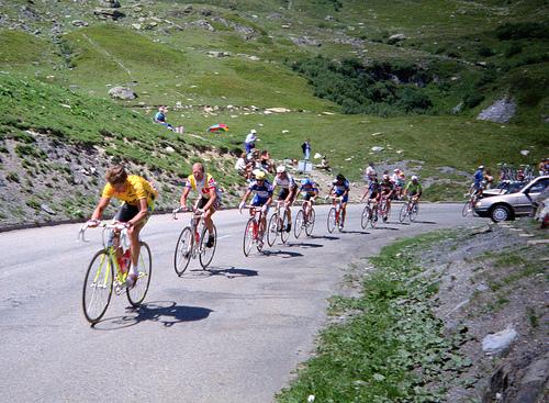 Bicycling Col de la Croix de Fer, Saint-Jean-de-Maurienne - Opinel knive at turnabout at start