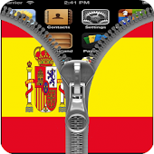 Spain Flag Zipper Screenlock