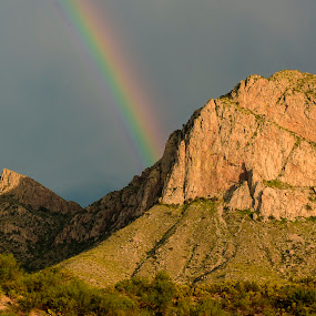 Catalina Rainbow by Jim O'Neill - Landscapes Mountains & Hills ( tucson, mountains, oro valley, arizona, catalinas )