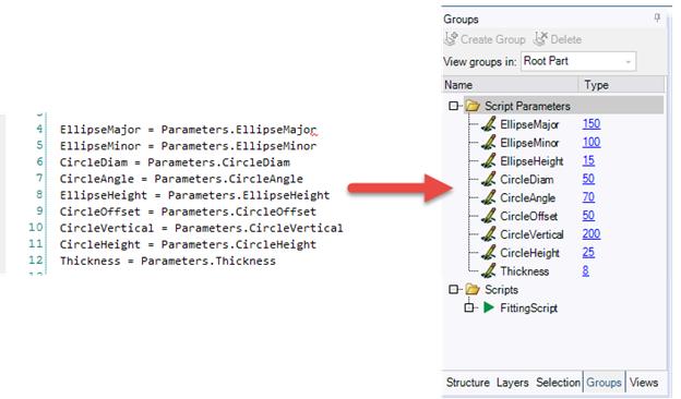 ANSYS Параметры, которые используются в скриптах, могут быть доступны как в SpaceClaim, так и в DesignXplorer