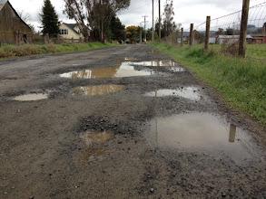 Photo: Cavanaugh Lane Potholes
