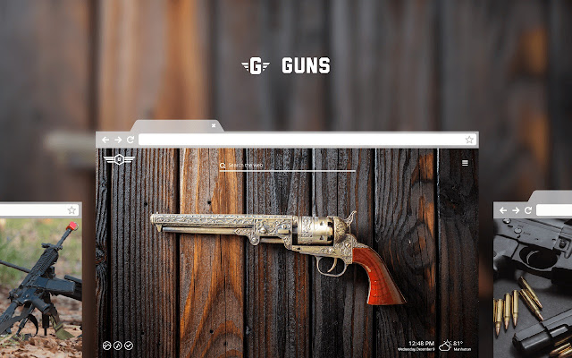 Guns HD Wallpaper Theme