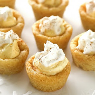 Eggnog Cookie Cups