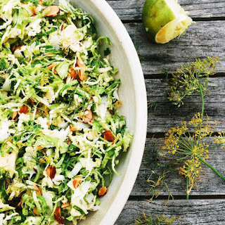 Sliced Brussels Sprouts Salad With Dill