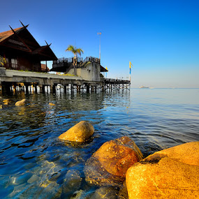 Losari Seaside  by Harris Rinaldi - Landscapes Waterscapes ( beach morning )