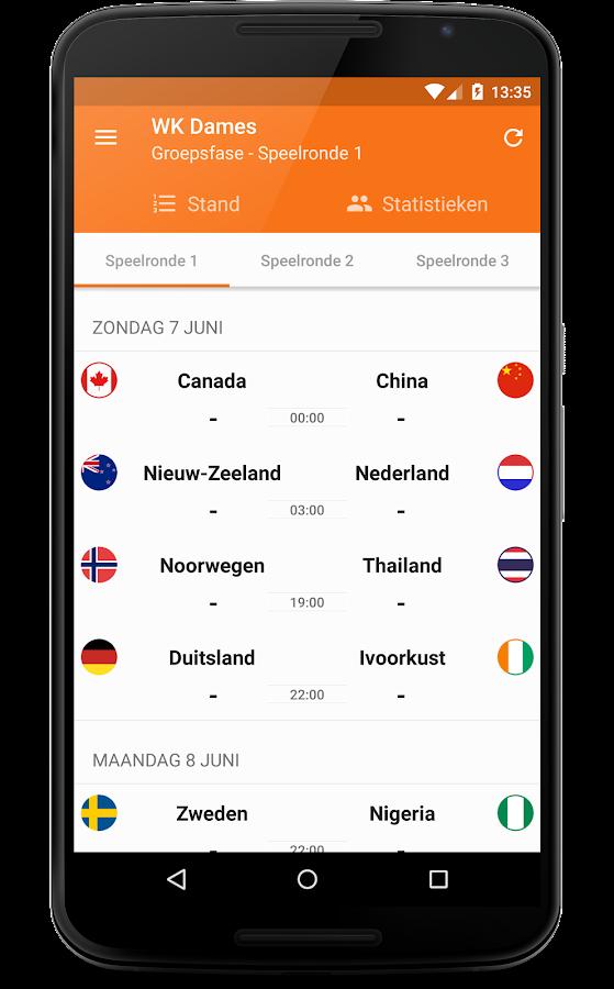 Oranje - WK Dames- screenshot