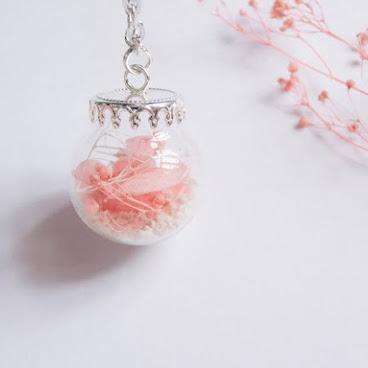 玻璃球乾花頸鏈 🌸