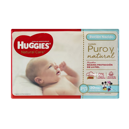 Pañal Huggies Natural Care - P