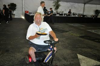 Photo: Johnny Goodrum gets dinner