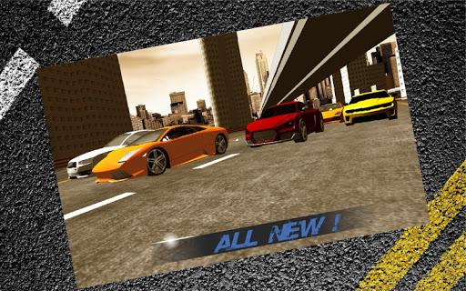 市カーレースのライバルの3D