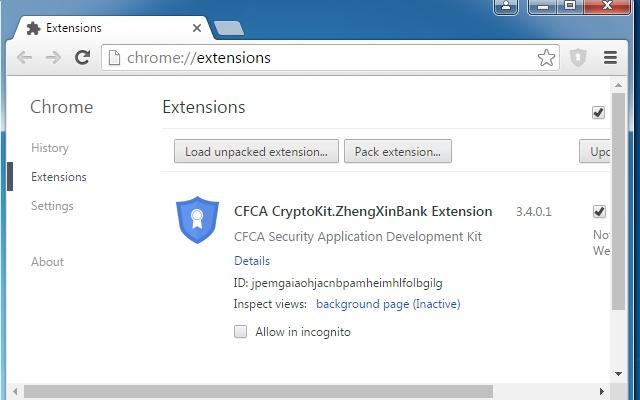 CFCA CryptoKit.ZhengXinBank Extension