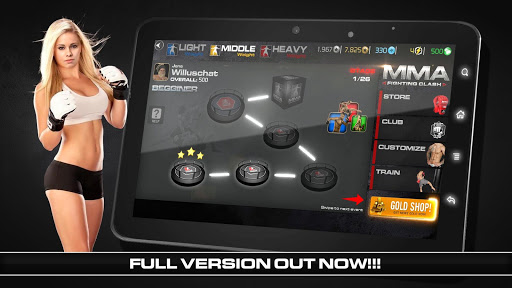 MMA Fighting Clash astuce APK MOD capture d'écran 1