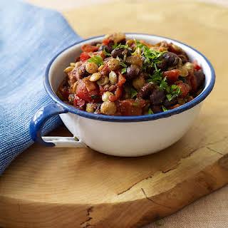 Lentil and Black Bean Chili.