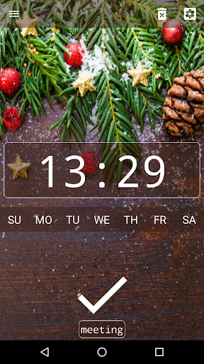 Good alarm clock without ads with music and widget screenshot 2