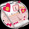 Paris Pink Eiffel Emoji Keyboard Theme icon
