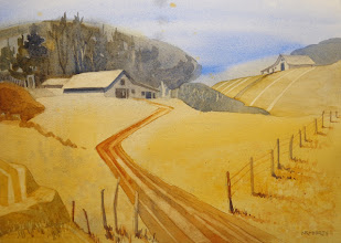 """Photo: """"Hill Country Improv"""", watercolor by Nancy Roberts, copyright 2015"""
