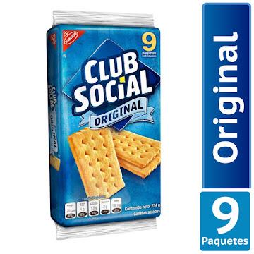 Galletas Club Social   Original Saladas X9Paq. X234G.