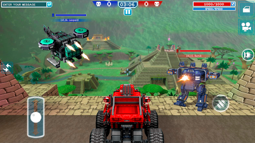 Blocky Cars - Shooting games, robo wars android2mod screenshots 3