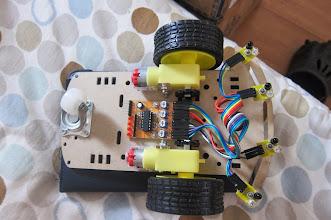 Photo: Robot platform + line following set-up