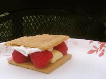 White Chocolate Raspberry S'mores