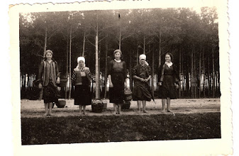 Photo: 9-16-40 Young Polish women go to the market in Milec to participate in (self defense?) training and then every hour another four more girls get trained