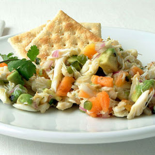 Papaya and Avocado Crab Salad