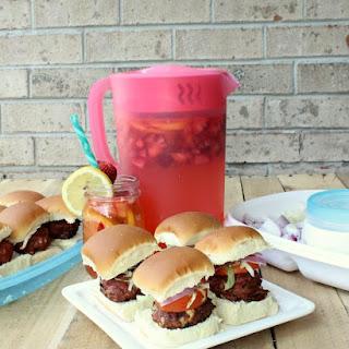 Bacon Blue Cheese Sliders & Strawberry Lemonade