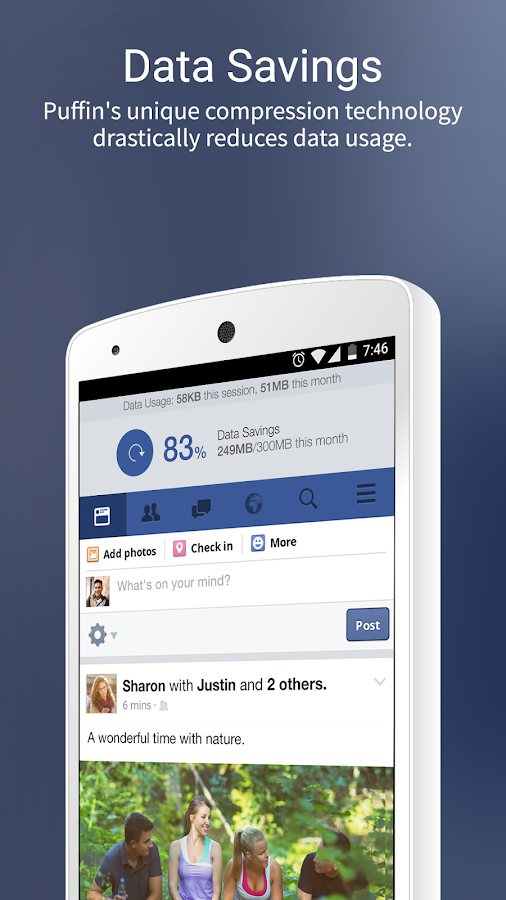 Puffin for Facebook- screenshot