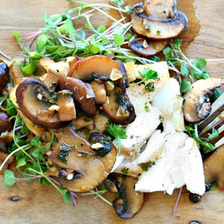 Cod with Beer and Mushroom Sauce