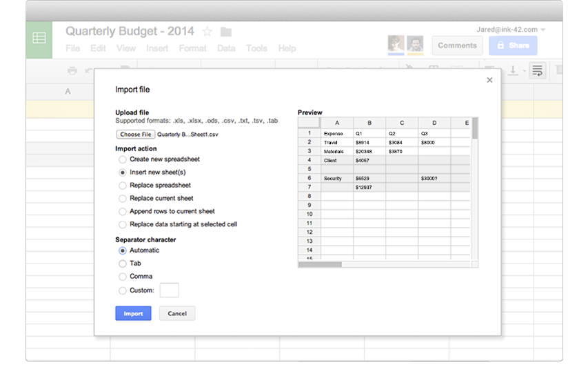 google sheets online spreadsheets for business g suite