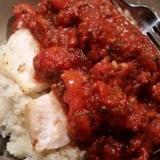 "Italian Cod with ""Rice""."