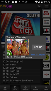 nexGTv SD Live TV on Mobile- screenshot thumbnail