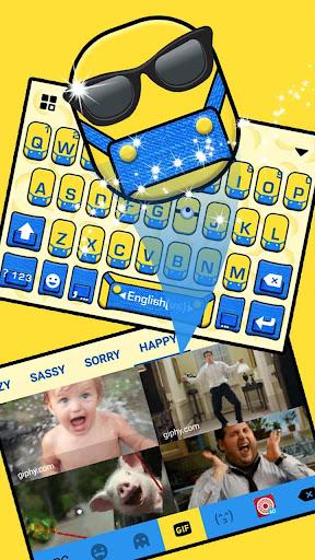 Cartoon Yellow Me Keyboard Theme 1.0 screenshots 4