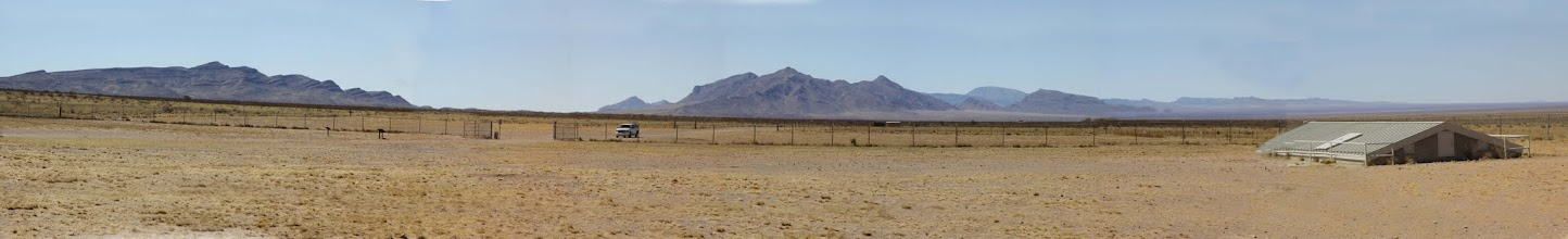 Photo: Trinity Site - Building covers and protects a huge pocket of Trinitite (glass created when the Gadget exploded and turned the sand to glass)  This image should be viewed with the thought in mind that it depicts only half of the view available at the site, the next image covers the other half