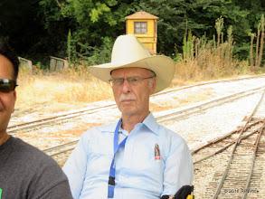Photo: Barry Tobias, conductor.   HALS Public Run Day  2016-0716  RPWhite
